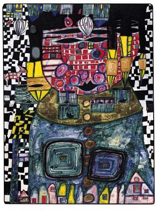 928 Antipode King - Friedensreich Hundertwasser