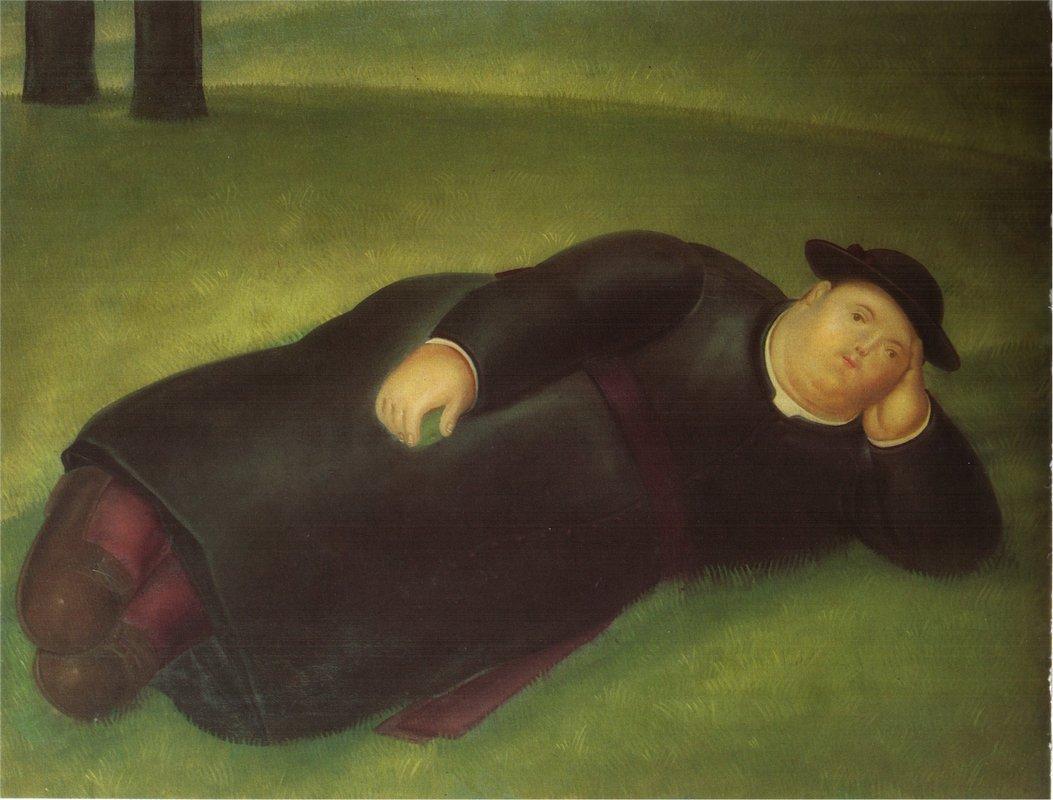 Priest Extends - Fernando Botero