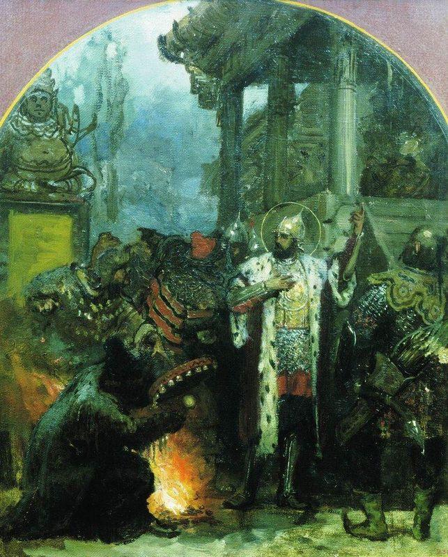 Prince Alexander Nevsky in Gold Horde - Henryk Siemiradzki
