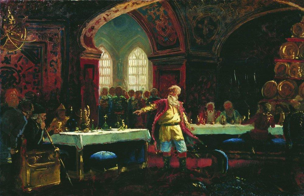 Prince Repin at the Banquet of Ivan the Terrible - Konstantin Makovsky