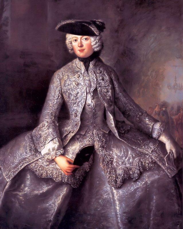 Princess Amalia of Prussia as an Amazon - Antoine Pesne