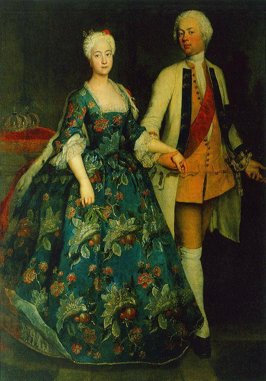 Princess Sophie Dorothea Marie with her ??husband, Frederick William, Margrave of Brandenburg Schwedt - Antoine Pesne