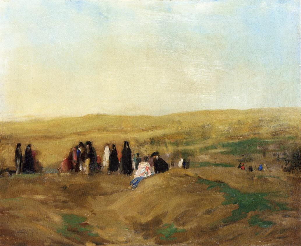 Procession in Spain (also known as Spanish Landscape with Figures)  - Robert Henri