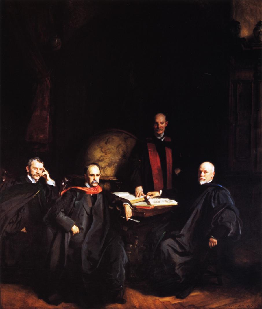 Professors Welch, Halsted, Osler and Kelly (also known as The Four Doctors) - John Singer Sargent
