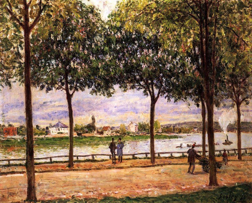 Promenade of Chestnut Trees - Alfred Sisley