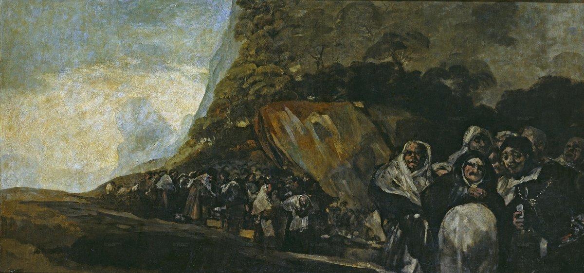 Promenade of the Holy Office - Francisco Goya