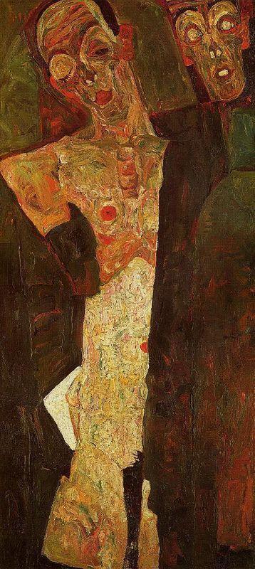 Prophets (Double Self Portrait) - Egon Schiele