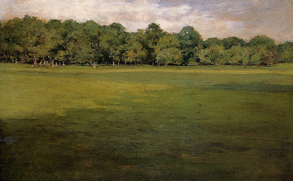 Prospect Park, aka Croquet Lawn Prospect Park - William Merritt Chase