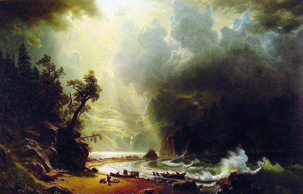 Puget Sound on the Pacific Coast - Albert Bierstadt