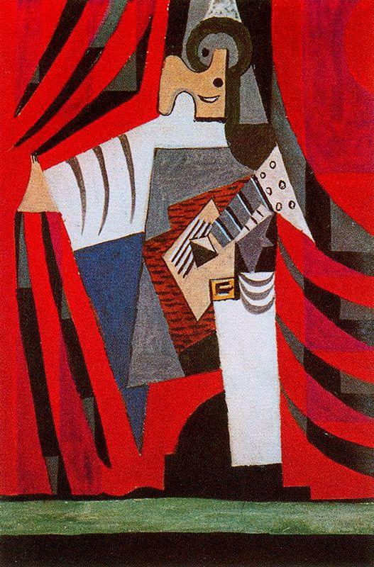 Punchinello with guitar - Pablo Picasso