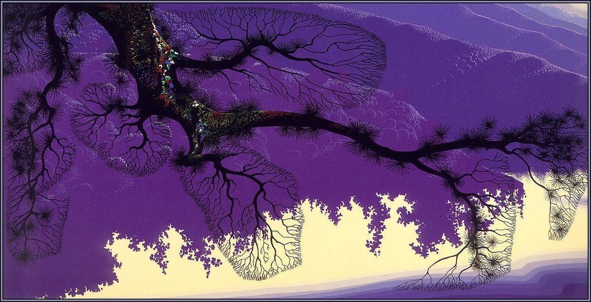 Purple Coastline - Eyvind Earle
