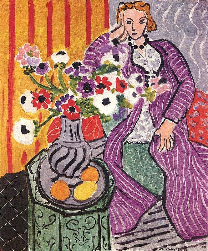 Purple Robe and Anemones - Henri Matisse
