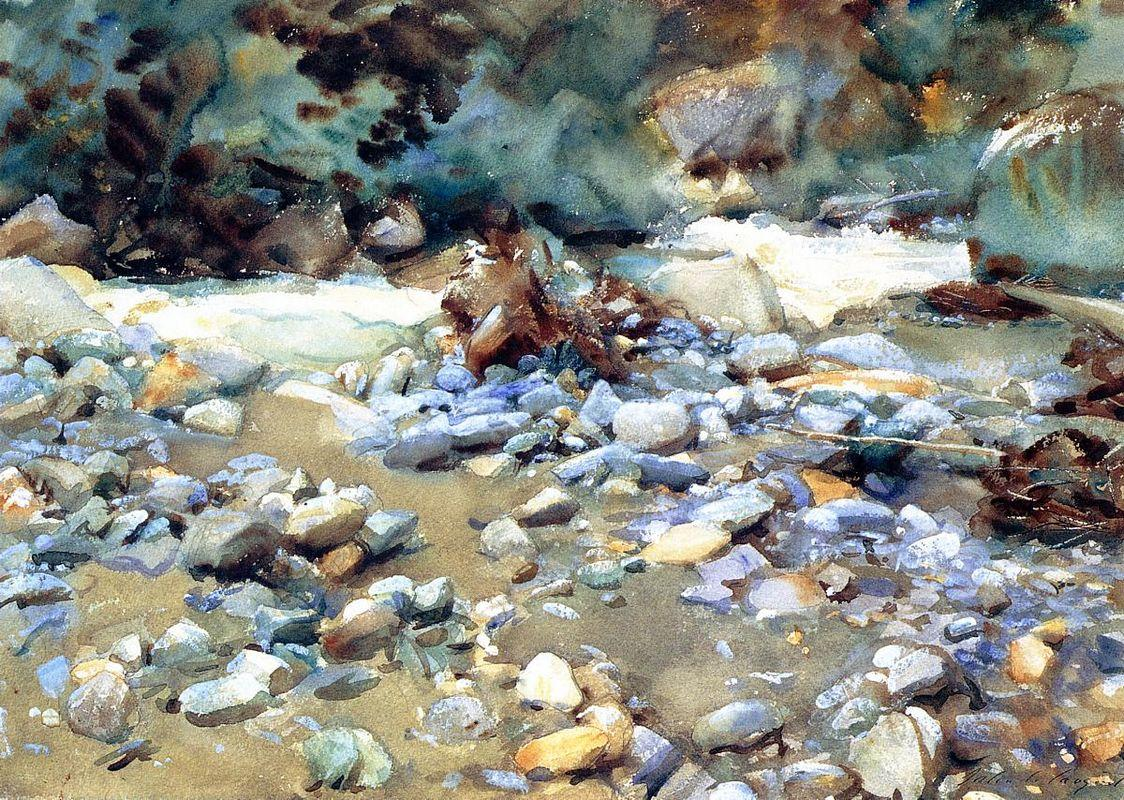 Purtud, Bed of a Glacier Torrent - John Singer Sargent