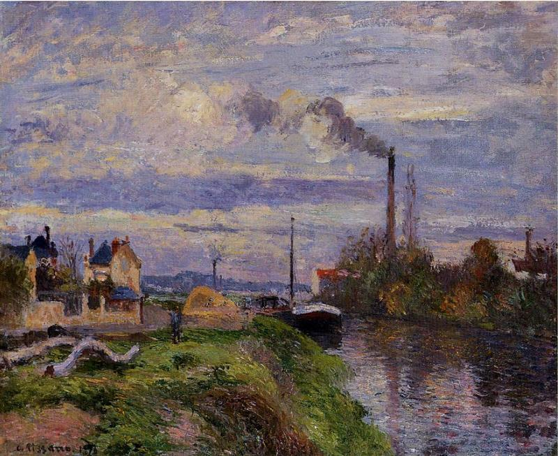 Quai du Pothuis, at Pontoise - Camille Pissarro