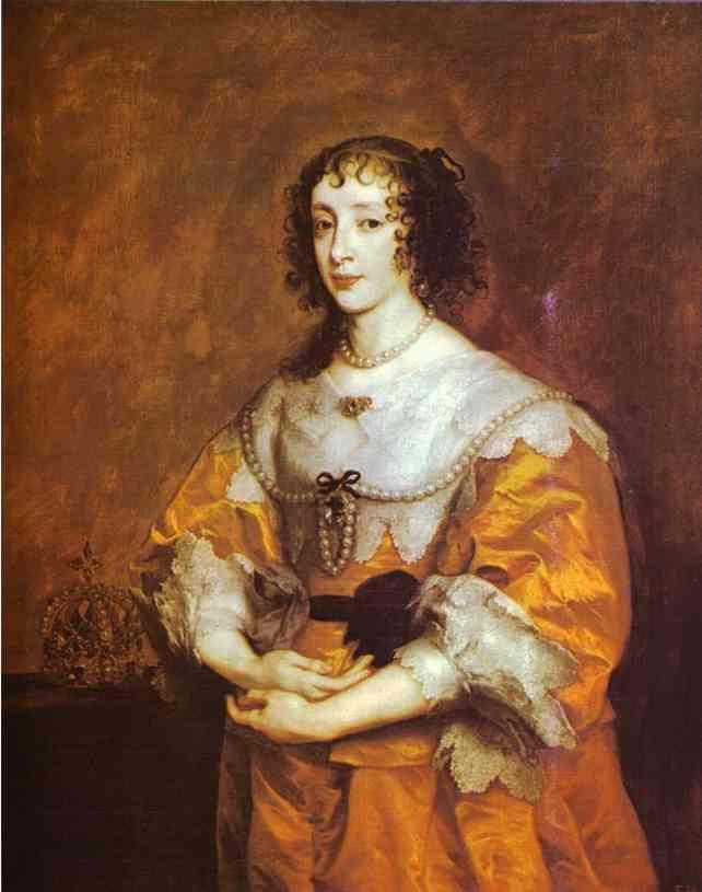 Queen Henrietta Maria - Anthony van Dyck