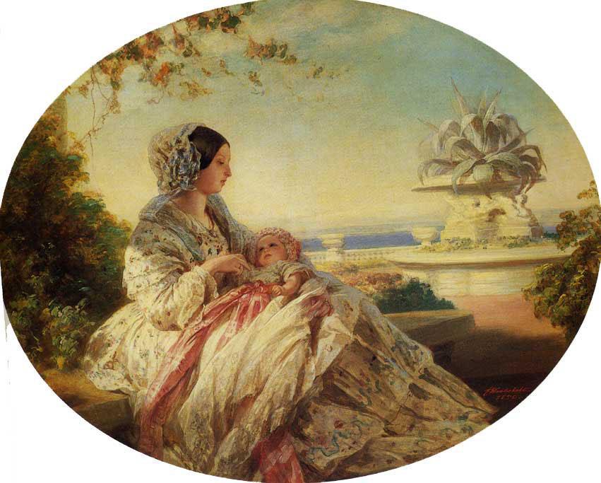 Queen Victoria with Prince Arthur - Franz Xaver Winterhalter