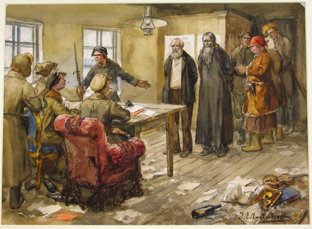 Questioning in the committee of poor - Ivan Vladimirov