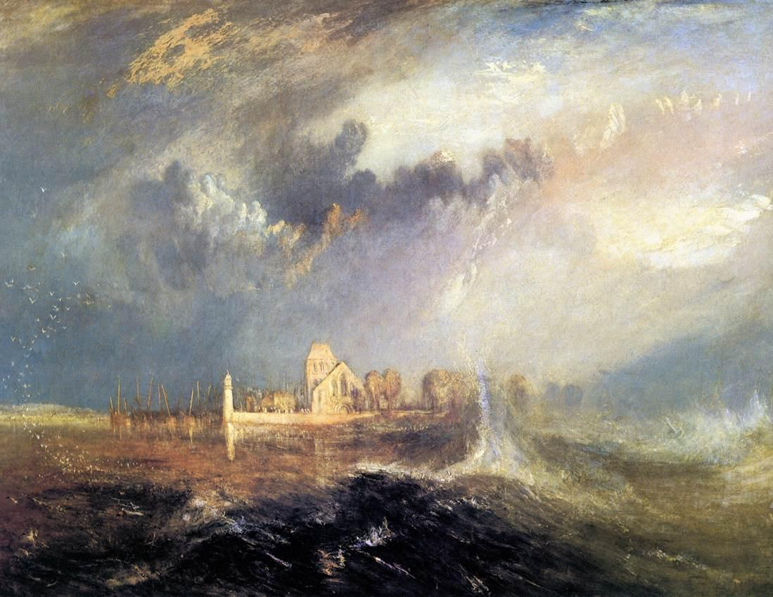 Quillebeuf, at the Mouth of Seine - William Turner