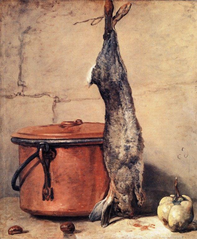 Rabbit and Copper Pot - Jean-Baptiste-Simeon Chardin