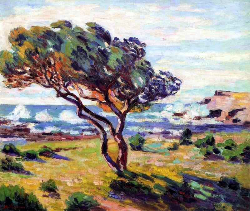Rafales de vent, Le Brusc - Armand Guillaumin