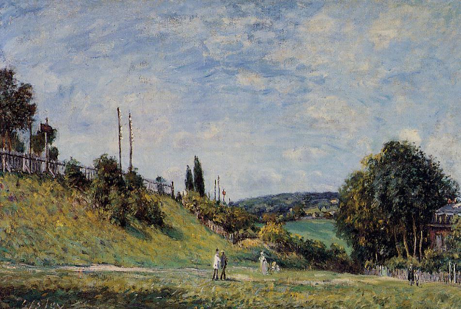 Railroad Embankment at Sevres - Alfred Sisley