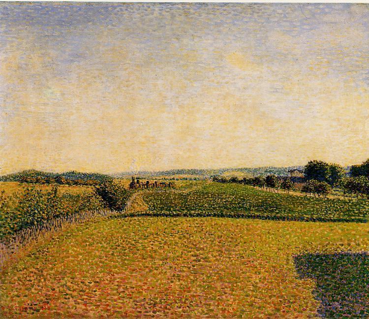Railroad to Dieppe - Camille Pissarro