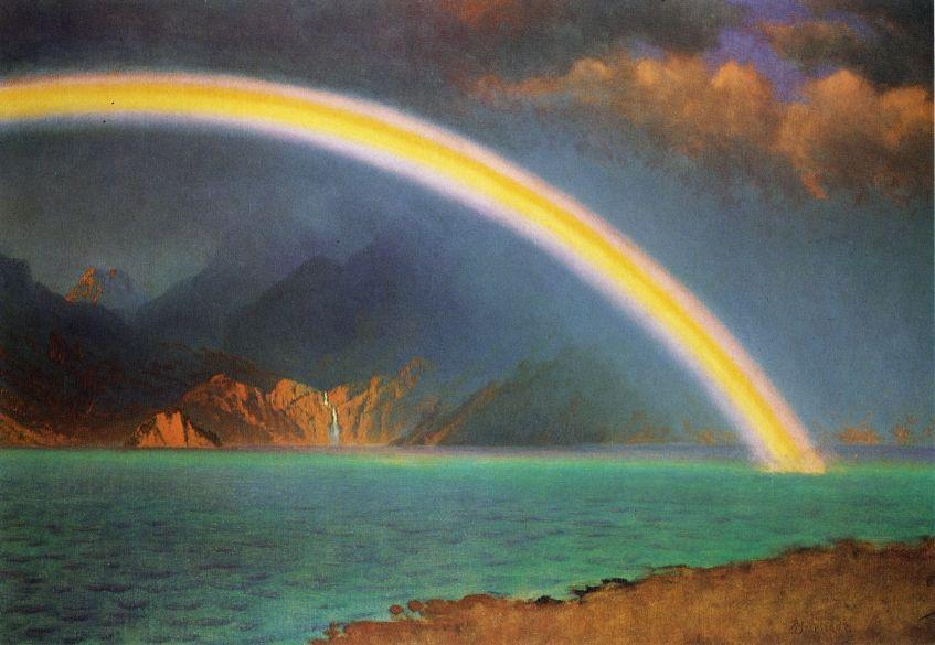 Rainbow over Jenny Lake, Wyoming - Albert Bierstadt