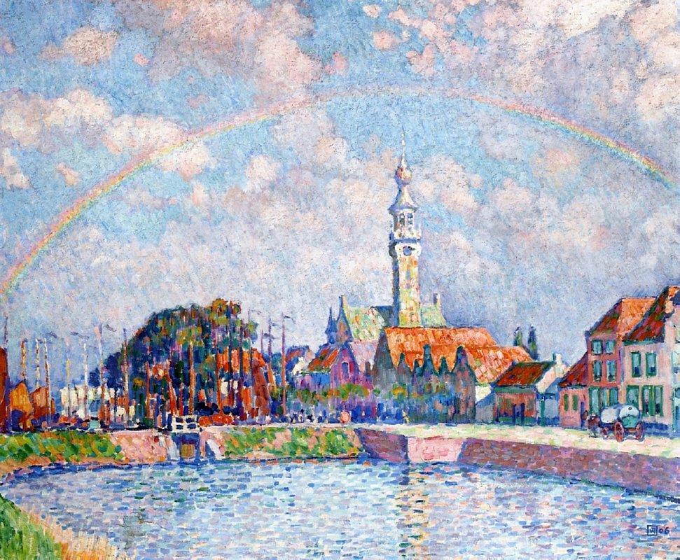 Rainbow over Veere - Theo van Rysselberghe