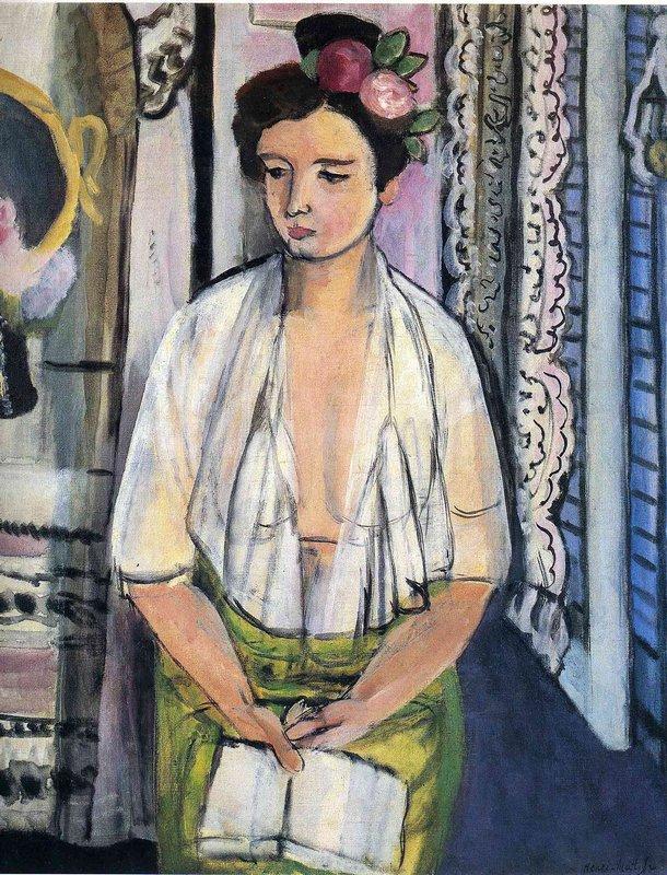Reader on a Black Background  - Henri Matisse