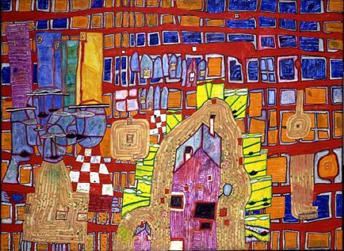 978 Rebellion of the Grid - Friedensreich Hundertwasser