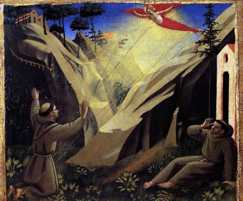 Receiving the Stigmata - Fra Angelico