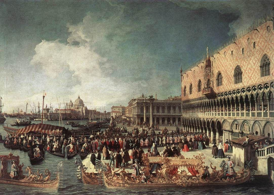 Reception of the Ambassador in the Doge's Palace - Canaletto