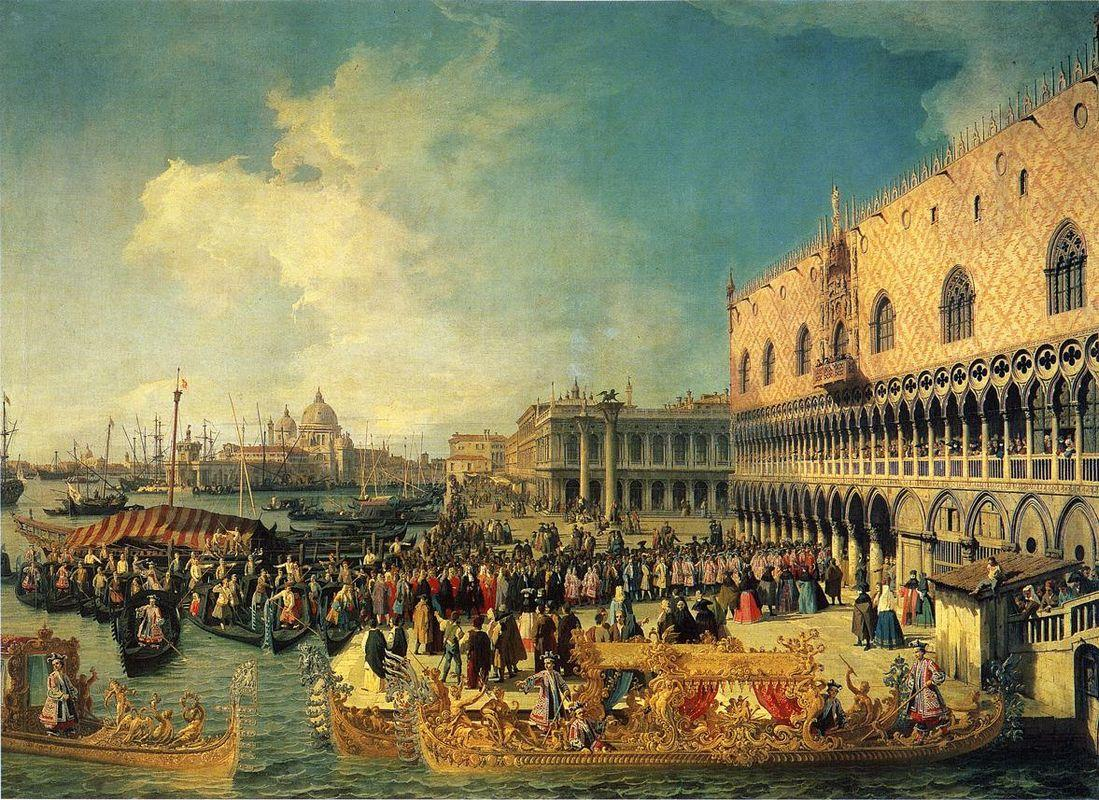 Reception of the Imperial Ambassador at the Doge's Palace - Canaletto
