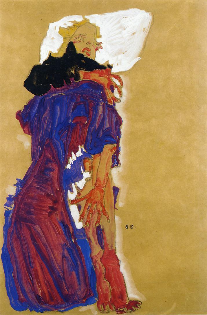 Reclining Girl on a Pillow - Egon Schiele