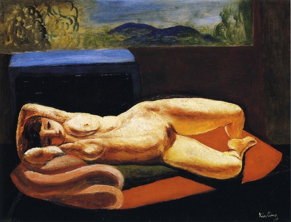 Reclining nude - Moise Kisling