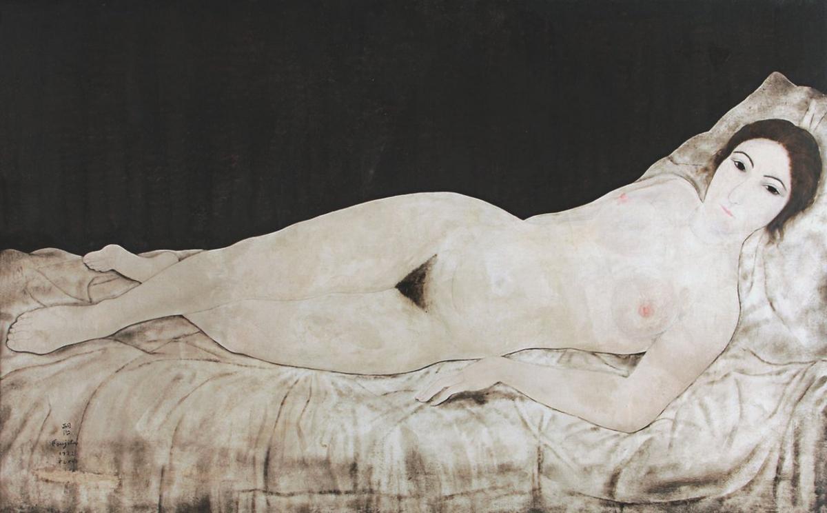 Reclining Nude - Tsuguharu Foujita