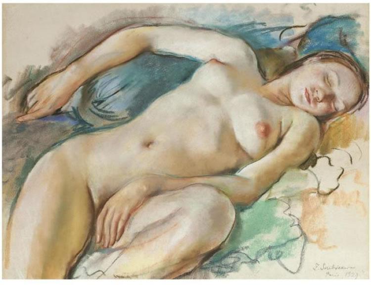 Reclining Nude - Max Beckmann