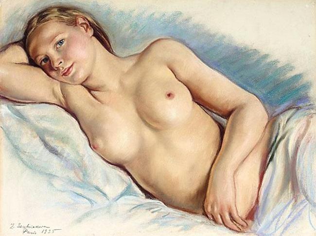 Reclining Nude - Zinaida Serebriakova