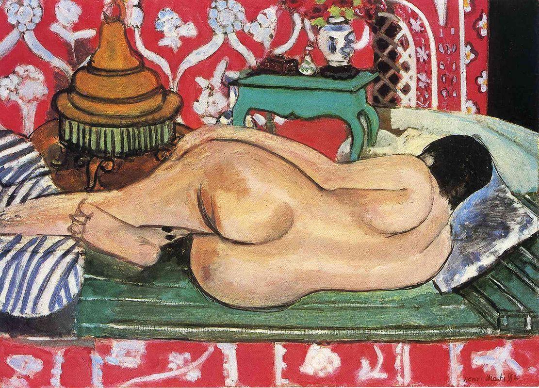 Reclining Nude, back  - Henri Matisse