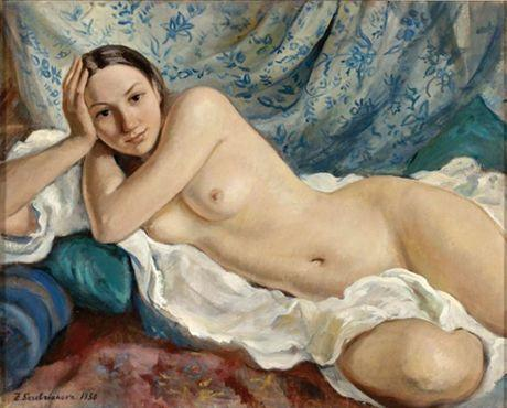 Reclining nude - Gustave Courbet