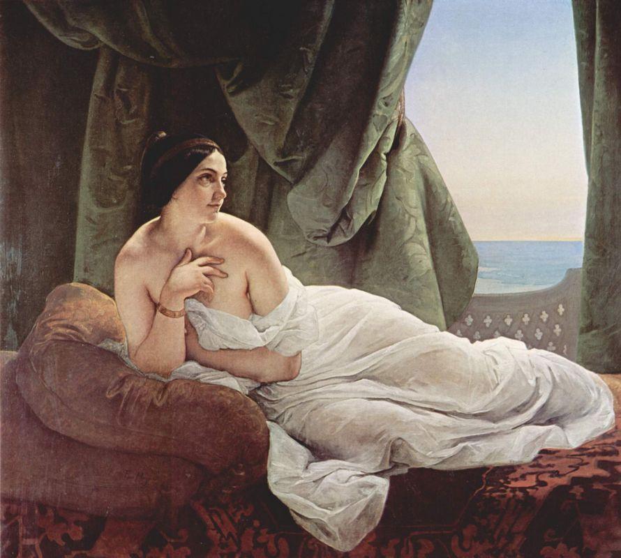 Reclining odalisque - Francesco Hayez