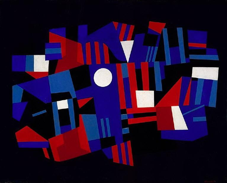 Red and Blue Composition - Ad Reinhardt
