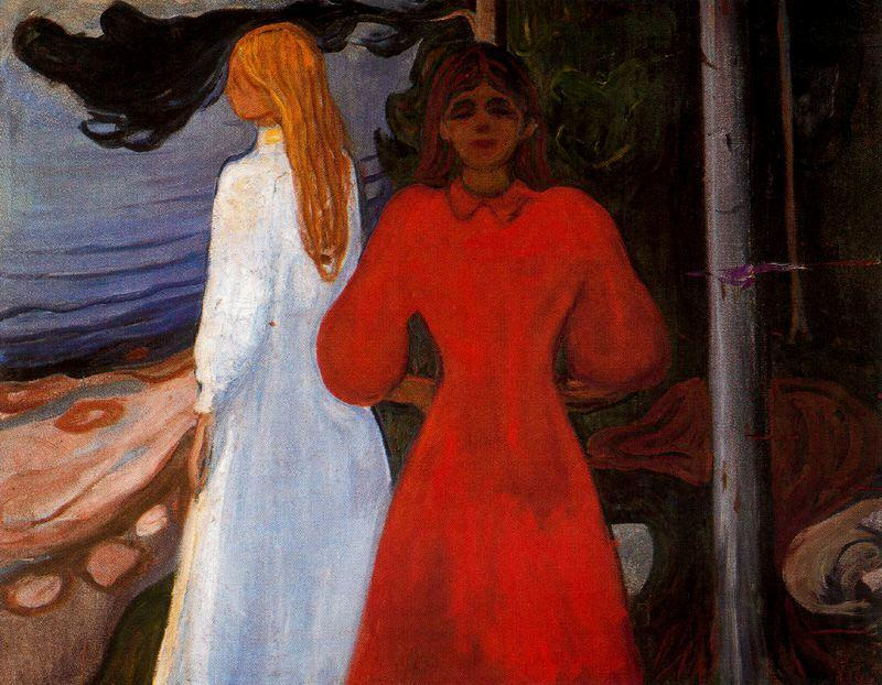 Red and White - Edvard Munch