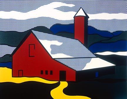 Red barn II - Roy Lichtenstein