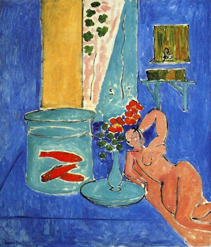 Red Fish and a Sculpture - Henri Matisse