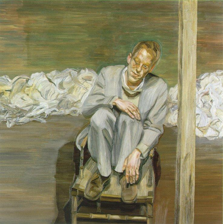 Red Haired Man on a Chair - Lucian Freud