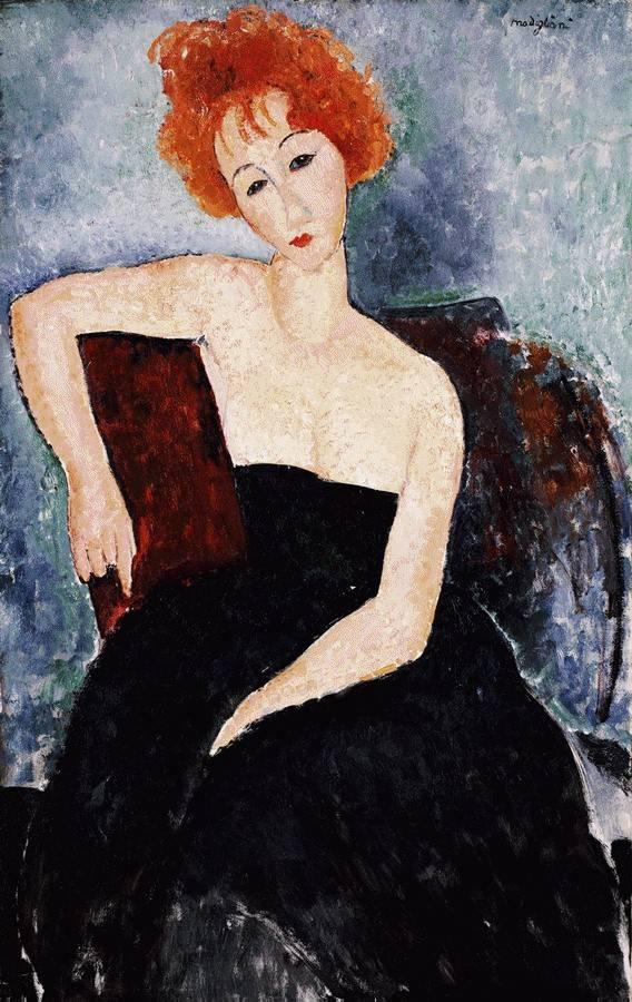 Red-headed Girl in Evening Dress - Amedeo Modigliani