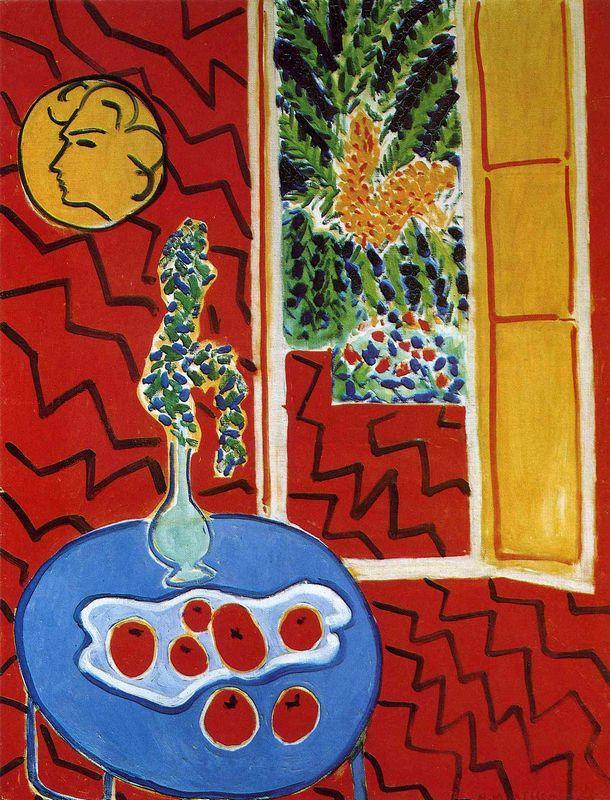 Red Interior. Still Life on a Blue Table - Henri Matisse