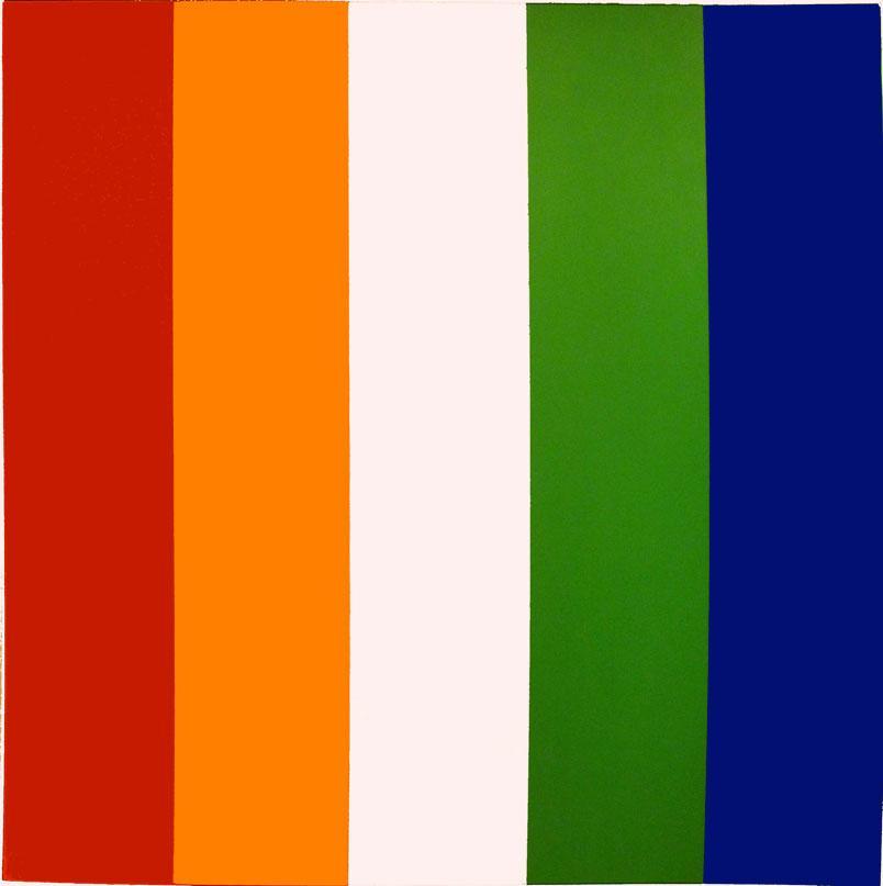 Red Orange White Green Blue - Ellsworth Kelly
