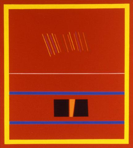 Red Painting For Romania - Ronnie Landfield